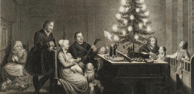 Maarten Luther en zijn familie in Wittenberg, tijdens kerstmis 1536