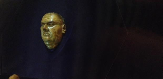 het dodenmasker van Luther