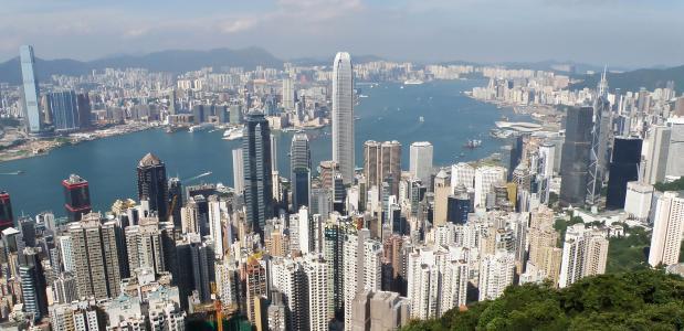 Noordkust eiland Hongkong