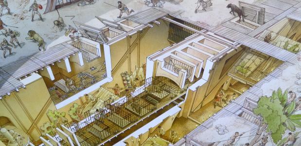 De Uitvinding Van Het Amfitheater Isgeschiedenis