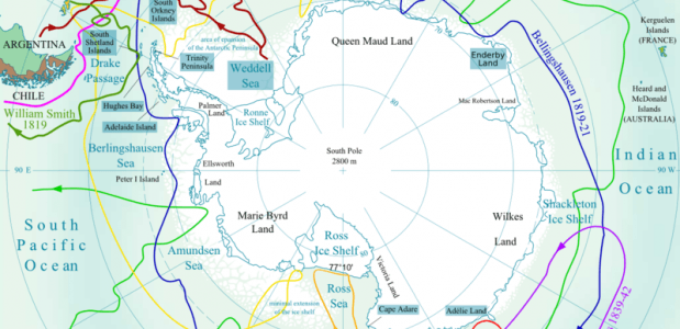 Kaart van antarica