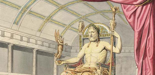Beeld van Zeus Olympia