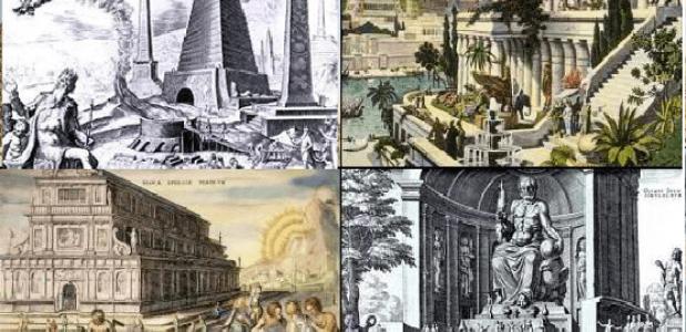 zeven wereldwonderen van de klassieke oudheid