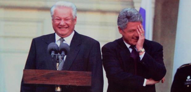 Yeltsin en Clinton