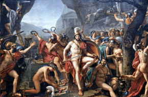 Koning Leonidas bij Thermopylae