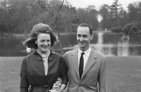 Prinses Irene en Prins Carel Hugo de Bourbon Parma in het Paleis op Soestdijk