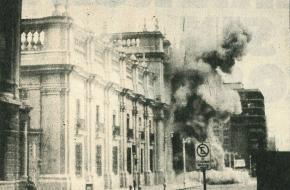 Bombardement op La Moneda, het presidentieel paleis in Chili