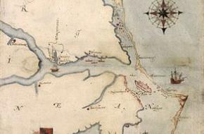 De verloren kolonie Roanoke op de kaart