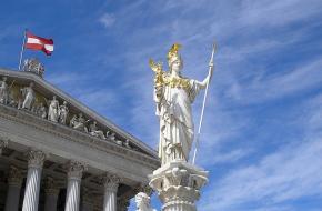 Het parlementsgebouw in Wenen, de hoofdstad van Oostenrijk