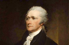 Portret van Alexander Hamilton