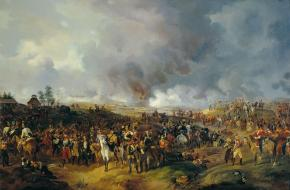 'Slag bij Leipzig 1813', door Alexander Zaureweid, 1844.