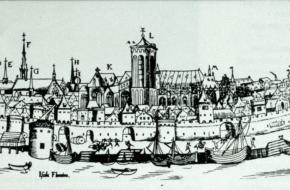 Historisch stadsgezicht op Deventer.