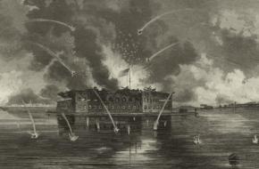 In de haven van Charleston troffen in 1861 de Noordelijke en Zuidelijke staten elkaar. De Amerikaanse Burgeroorlog begon.