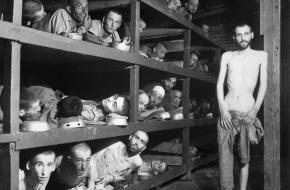 Dwangarbeiders in Buchenwald.