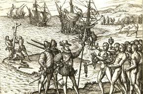 Columbus komt aan op Hispaniola