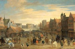Maurits dankt de waardegelders af in Utrecht (Wikimedia Commons)
