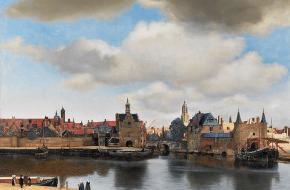 Gezicht op Delft, Johannes Vermeer, circa 1660 – 1661.
