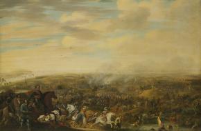 Prins Maurits bij de Slag bij Nieuwpoort, 2 juli 1600. Pauwels van Hillegaert, cia 1632 – 1640