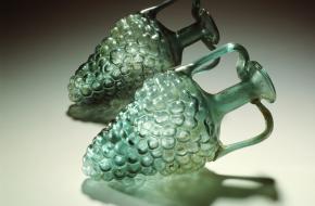 romeinse glazen flesjes Rijksmuseum