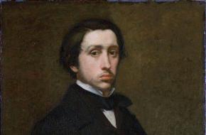 Een zelfportret van Edgar Dégas uit het Musée d'Orsay, 1855.