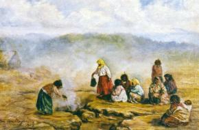 Historische kooktechnieken grondoven