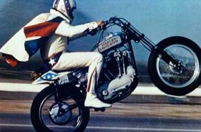 Evel Knievel, motorfiets, motorkleding.