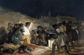 Executie van Spaanse opstandelingen door het Franse leger