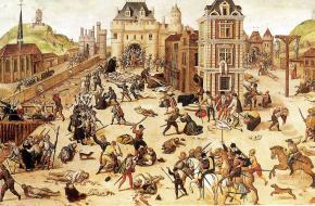 De godsdienstoorlogen in Frankrijk