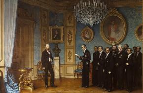 De Mexicaanse delegatie benoemt Ferdinanrd Maxilmiliaan van Oostenrijk als Keizer van Mexico
