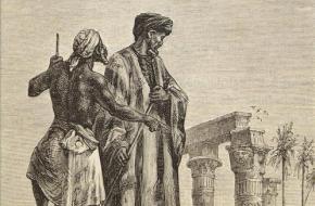 Ibn Battuta in Egypte, laat 19e-eeuwse prent. (Wikimedia Commons)