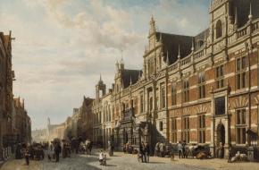 Brand in stadhuis Leiden