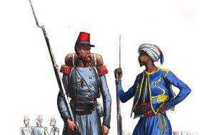 Soldaat van het Franse Vreemdelingenlegioen en een inheemse soldaat uit Algerije