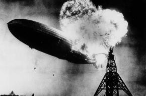 Hindenburg Zeppelin brand