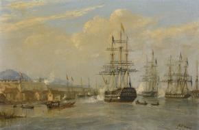De HMS Cornwallis, waarop het Verdrag van Nanking in 1841 werd ondertekend.