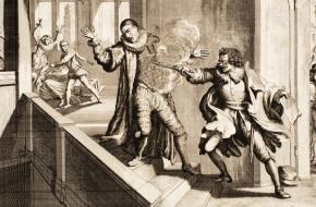 Balthasar Gerards vermoordt Willem van Oranje