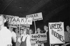 Protest cpn troepenuitzending Nederlands Indie 1946