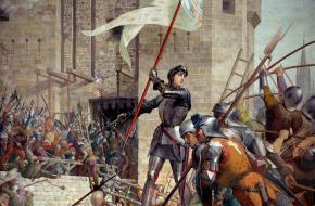Jeanne d'Arc bij het beleg van Orléans