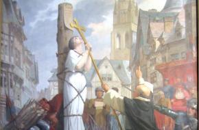 Jeanne d'Arc op de brandstapel