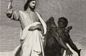 Christus door de duivel bekoord. Een schilderij van Ary Scheffer uit 1896. Bron: Nationaal Archief Spaarnestad.