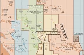 De internationale datumgrens in Oceanië