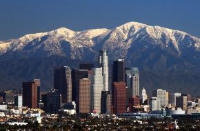 De skyline van Los Angeles