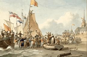 De Landing van de Prins in Scheveningen