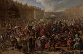 Tijdens het Beleg van Leiden werd de stad Leiden ontzet.