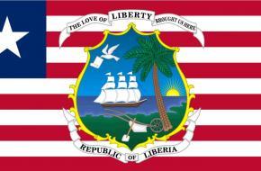 De vlag en het wapen van Liberia