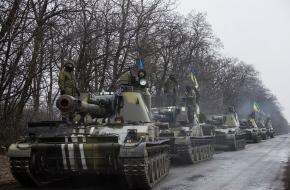Terugtrekking van Oekraïens oorlogsmaterieel op 4 maart 2015. Bron: Wikimedia Commons.