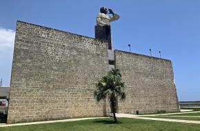 Standbeeld van Montesinos in de Dominicaanse Republiek