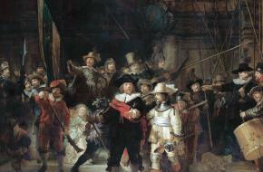 De Nachtwacht. Een schilderij van Rembrandt van Rijn. Bron: Wikimedia Commons.
