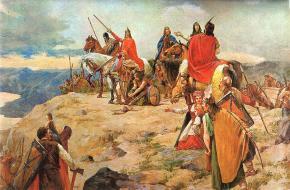 De komst van de Kroaten aan de Adriatische Zee.