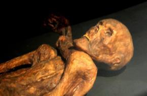 Het lichaam van Ötzi de ijsmummie is tegenwoordig te zien in het Archeologisch museum in Bolzano.