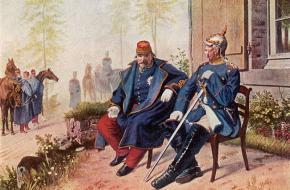 Overgave Napoleon III slag bij Sedan Frans-Duitse Oorlog Otto von Bismarck